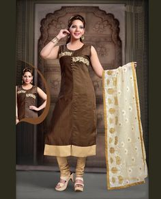 Readymade Stitched Designer Bollywood Pakistani Ethnic Kameez Indian Salwar Suit in Clothing, Shoes & Accessories, Cultural & Ethnic Clothing, India & Pakistan Indian Salwar Suit, Churidar Suits, Salwar Kameez, Bollywood Suits, India And Pakistan, Brown Art, Indian Ethnic Wear, Embroidered Silk, Model