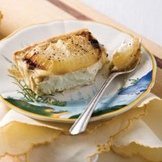 Creamy Onion Tart with Lemon-Thyme Crust