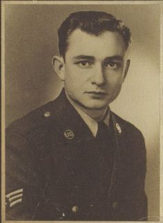 Johnny Cash during his time in the Air Force.