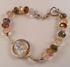 Faceted Crystal Bracelet by TheArtfulGarden on Etsy