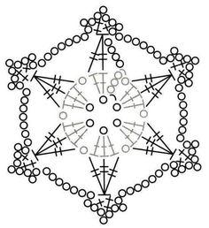 """Képtalálat a következőre: """"crochet snowflake"""" Crochet Christmas Ornaments, Christmas Crochet Patterns, Holiday Crochet, Christmas Snowflakes, Christmas Decorations, Christmas Tree, Crochet Diagram, Crochet Motif, Crochet Doilies"""