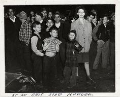 At An East Side Murder , 1943. © Weegee/International Center of Photography