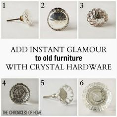Crystal hardware favorites and other simple steps for updating a ho-hum piece of furniture