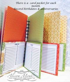by - Cards and Paper Crafts at Splitcoaststampers Card Organizer, Organizers, Arts And Crafts, Paper Crafts, Birthday Calendar, Scrapbook Journal, Haiku, Organization, Mini