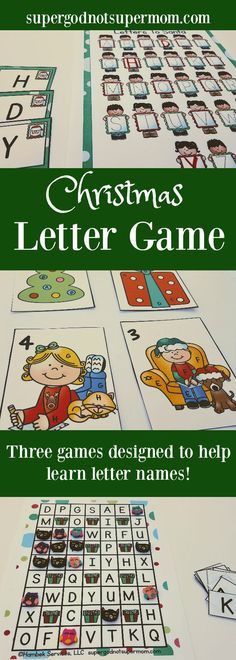 Click here for three Christmas themed games designed to help your little learner practice letter recognition.  www.supergodnotsupermom.com