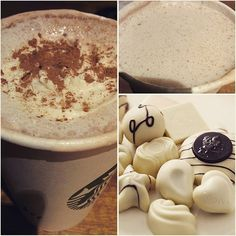 Just Added : *WHITE CHOCOLATE CINNAMON CHAI LATTE* !! tastes rich & indulgent and goes excellently with a cinnamon swirl!