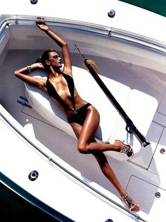 on a boat...glam style