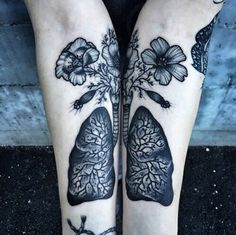 Imagen de tattoo, grunge, and flowers