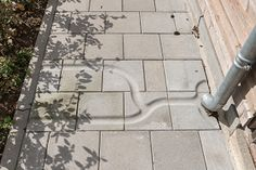 Water Tiles are 15 different pavement tiles sized cm inspired by the Dutch waterworks. A square, terras or playground can be changed into a river delta! Landscape Architecture, Landscape Design, Garden Design, Rain Garden, Water Garden, Gutter Drainage, Pot Plante, Water Management, Built Environment