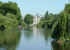 Water and lush surroundings in St James Park, London