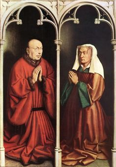 Jan van Eyck, Ghent Altarpiece - donors, 1432, St Bavo Cathedral, Ghent