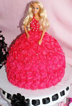 Basic Barbie Doll Shape Cake
