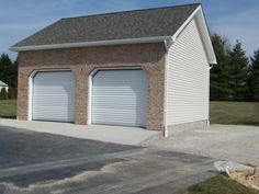20x22 Garage with brick