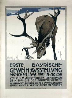 First Bavarian Antler Exhibition (1906), via Flickr.