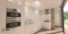 keuken met schuifdeur naar berging/wasplaats