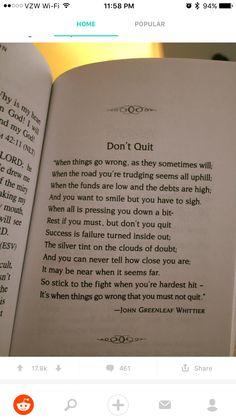 ••• Don't quit