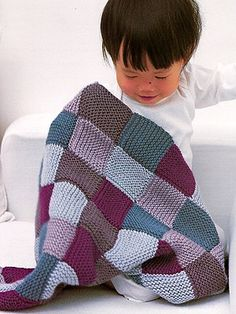 garter stitch blanket from Baby Knits For Beginners by at KnittingFever.com