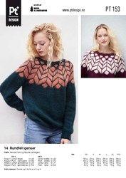 Pt 153-14 Rundfelt genser Diy And Crafts, Cardigans, Sweaters, Crochet, Graphic Sweatshirt, Pullover, Knitting, Sweatshirts, Celtic
