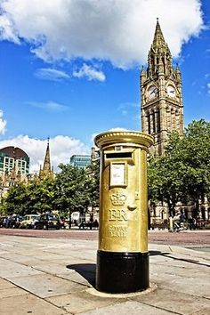 Painted gold in honour of a gold medallist in their home town for the London Olympics 2012