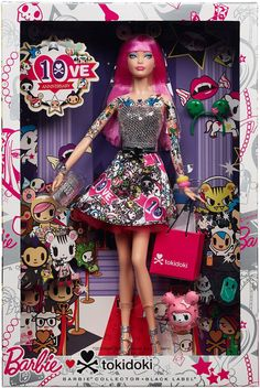 Always at the forefront of cutting-edge fashion, Barbie collaborates with whimsical lifestyle brand, Tokidoki in celebration of the brand's 10th anniversary! Barbie is ready to shop all day and party