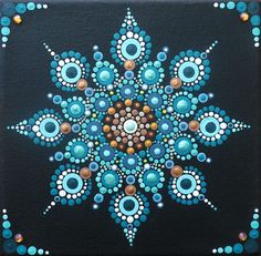 This is a 6x6x1 in canvas. Hand-painted with acrylic paints. Each painting is embellished with Swarovski crystals for added sparkle and color. Each canvas has been treated with a clear finish to protect the paint and canvas from water or other liquids.