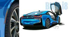 My BMW_i8 Painting - Donal Jolley (NFS) #BMW #cars #M3 #car #M4 #auto