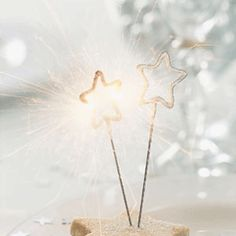 STAR shaped mini sparklers - set of 5 - SILVER | The Christmas Crackers Shop