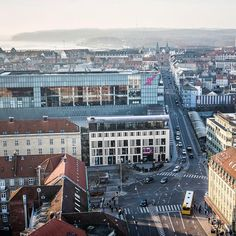 [ a view from the top of City Tower Hall Aarhus an early morning ] by thomasnoerremark