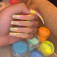 beauty nails looks Diva Nails, Aycrlic Nails, Bling Nails, Swag Nails, Punk Nails, Fancy Nails, Coffin Nails, Summer Acrylic Nails, Best Acrylic Nails