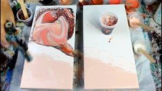 (28) Acrylic DIRTY POUR ROSE GOLD!!! Negative Space Study - YouTube