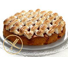 Rhabarberkuchen mit Meringuehaube, #glutenfrei: Genuss pur für Auge und Gaumen! #Rezept #gf #Zoeliakie