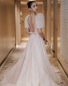Modern Filipiniana Gown, Filipiniana Wedding, Wedding Dress Trends, Wedding Gowns, Filipino Wedding, Bridal Dresses, Prom Dresses, Dress Hairstyles, Special Dresses