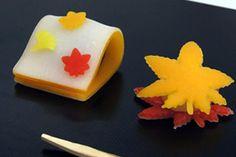 "fall wagashi ""autumn""  #japan #maple"
