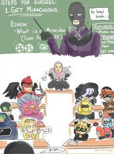 Mientras tanto en la escuela de villanos...