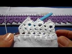Bico em crochê - 198 - YouTube Crochet Boarders, Crochet Edging Patterns, Crochet Lace Edging, Crochet Leaves, Cotton Crochet, Filet Crochet, Crochet Shawl, Crochet Designs, Crochet Stitches