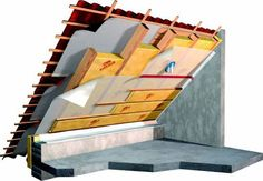 Roof insulation and roof insulation How To Paint Your Roof With A Broom If your roof is missing shingles, leaking, sagging, or rotting – it may be tim. Basement Insulation, Roof Insulation, Basement Flooring, Shed Plans, House Plans, Roof Decoration, Diy Roofing, Roof Detail, Loft Room