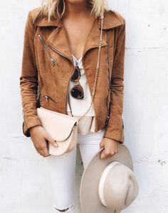 #camel #moto #jacket #suede #fall