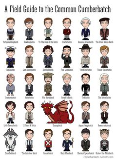 All of Ben's roles - updated to include Hamlet and Sherlock Special Batch! :D