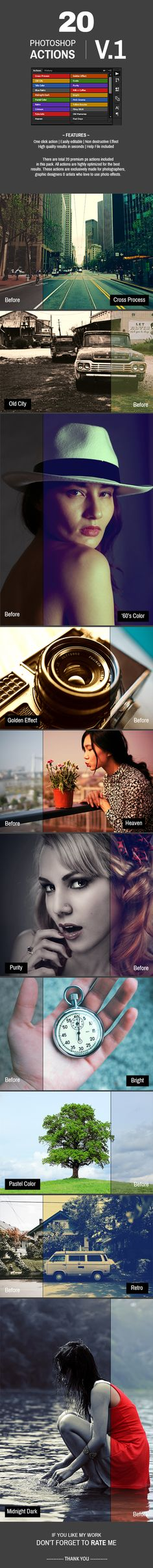 20 Photoshop Actions #photoeffect Download: http://graphicriver.net/item/20-photoshop-actions-v1/13897555?ref=ksioks