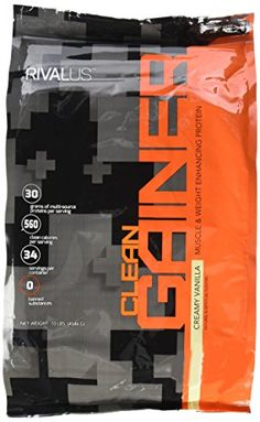Rivalus Clean Gainer Vanilla 10 Pound >>> Click on the image for additional details.
