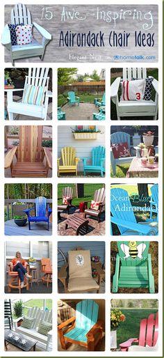 15 Awe-Inspiring Adirondack Chair Ideas | curated by 'Elegant Nest' blog!