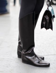Frieze London 2013 street style  ELLE UK   ELLE UK   Botega Venetta Boots