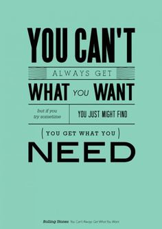 get what you need