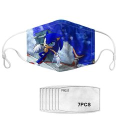 With adjustable ear loops, this is the perfect mask for your kids especially a speedy Sonic fan! Each mask comes with seven filters. If you choose to wear these mask with the filters, we recommend that you change the filters after one week. Fashion Mask, Ear Loop, Filters, Cool Designs, Australia, Change, Fan, Stylish, Kids