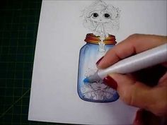Copic Coloring Tutorial - glass digital stamp