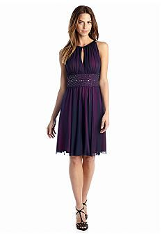 Fit and Flare Halter Dress