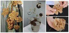 Panza de iuta, un material usor din care se pot realiza o multime de decoratiuni – Idei creative  Desi pare de necrezut ca dintr-un material, asa cum este panza de iuta, se pot realiza o multime