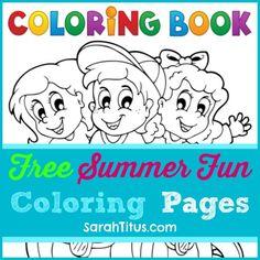 Coloring book kids summer fun