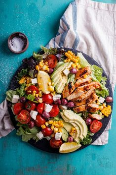 Juicy grilled Peri-Peri chicken salad with charred corn recipe | easy dinner ideas | healthy recipe | easy lunch recipe | low carb | gluten free