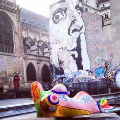 Paris #stravinsky #fountain #graffiti #centre #pompidou